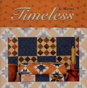 Timeless This small book has three quilt projects that feature Indigo prints, one setting has cheddar, another quilt has a bit of pink for a spark, as always you may make them in your colors. This beautiful book is 32 pages in full color, includes new graphics, set shots for inspiration, flat shots to see the entire quilt, and a nice section with step outs on hand-piecing my favorite block, the LeMoyne Star