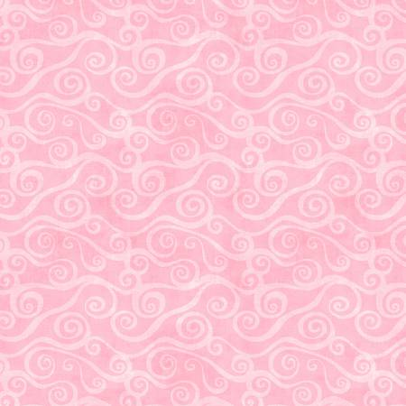 Pink Swirly Scroll 108in Wide Back Flannel 5752-300