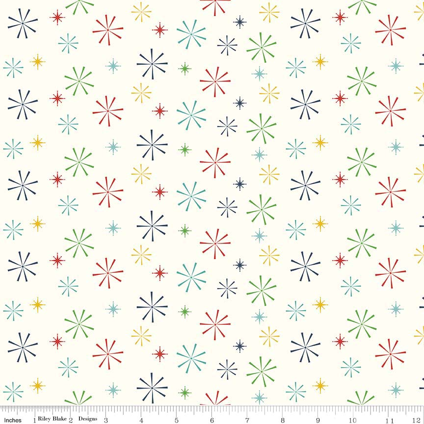 Nutcracker Snowflakes Multi c5334-multi